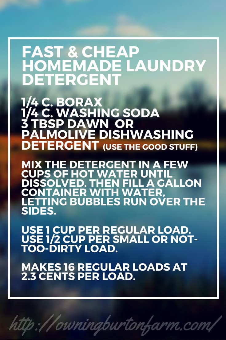 Wash Clothes For 2 3 Cents Per Load This Is A Quick And Easy Three
