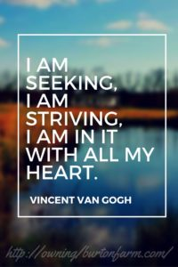 I am seeking, I am striving. I am in it with all my heart. ~ Vincent Van Gogh Bullet Journal Farm and Blog Level 10 Goals for the Year Owning Burton Farm - Join me for an update on our debt elimination progress and our goals progress for the year.