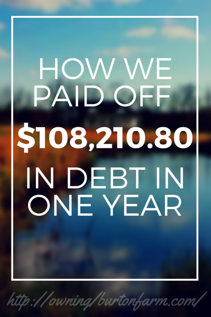Net Worth and Debt - One Year Update. We reduced our total debt by over $108,000 in one year. Sign up for our frugal homesteading email and I'll give you a spreadsheet detailing how we did it!