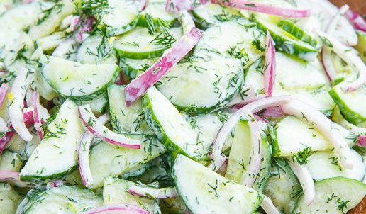 Image from Kevin at Closet Cooking, cropped by OBF What to do with all those cucumbers! The cucumber glut is upon us. This post in our Frugal Gardening Series will give you some great ideas to get you in and out of the kitchen in a hurry, with some delicious and refreshing ideas to consume those cucumbers! Pin for later or click through to use up your cucumbers now!