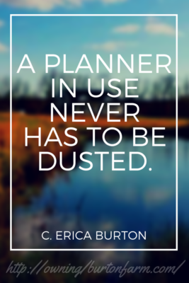 A planner in use never has to be dusted. ~ C. Erica Burton Great gift ideas for gardeners: Canning jars, garden carts, garden planners, Trolly dollies...Owning Burton Farm has you covered with ten great gift ideas for the gardener in your life! Find other great gift ideas by clicking through or pin for later.